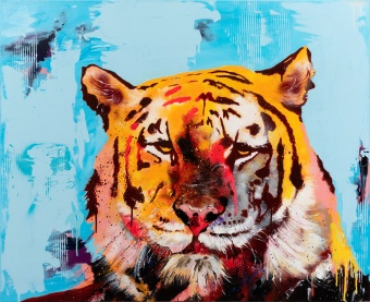 Robert Hilmersson - Eye of the tiger, oil om canvas