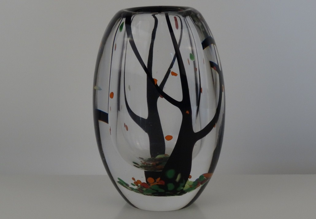 Autumn vase by Vicke Lindstrand for Kosta
