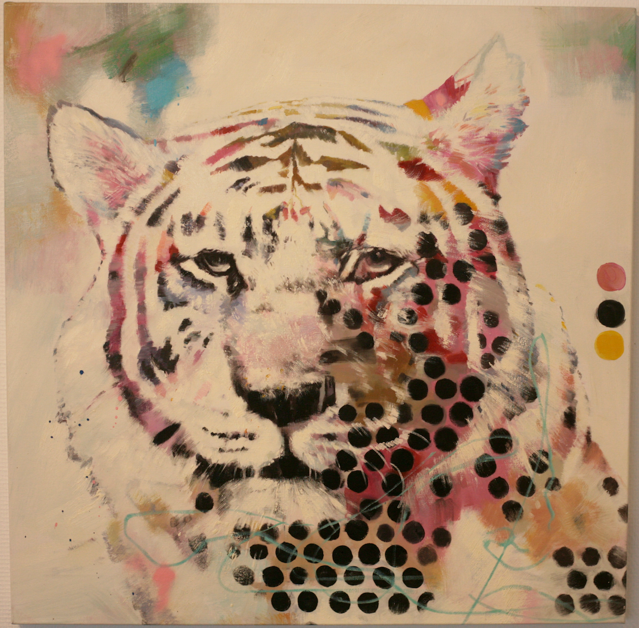 Robert Hilmersson - Eye of the Tiger, oil on canvas