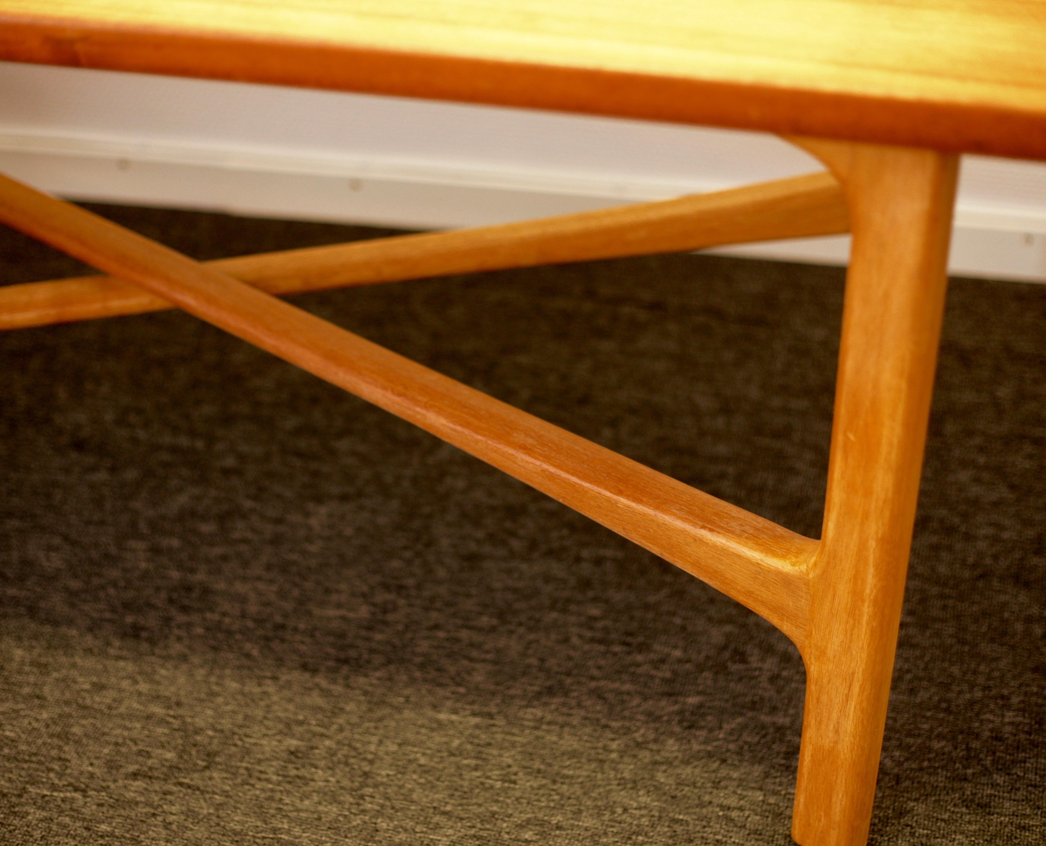 Teak and oak coffee table 'Carmel' by Folke Ohlsson