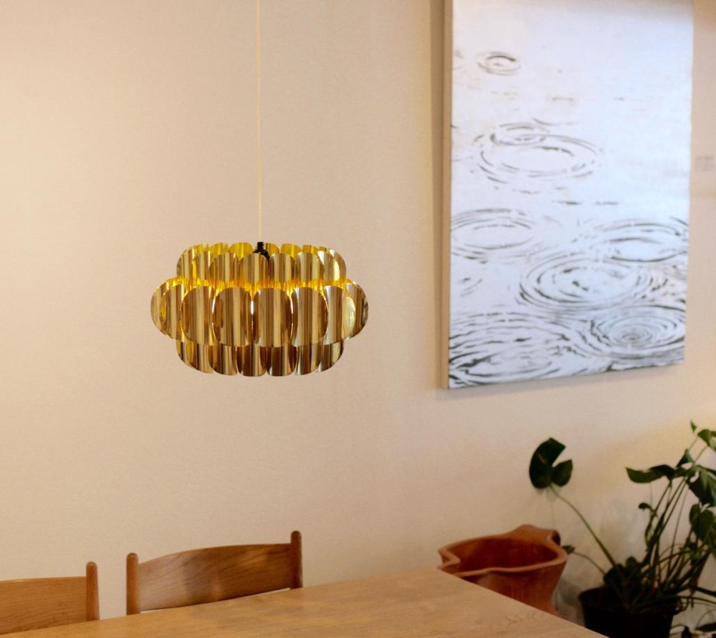 Brass roof pendant by Verner Schou