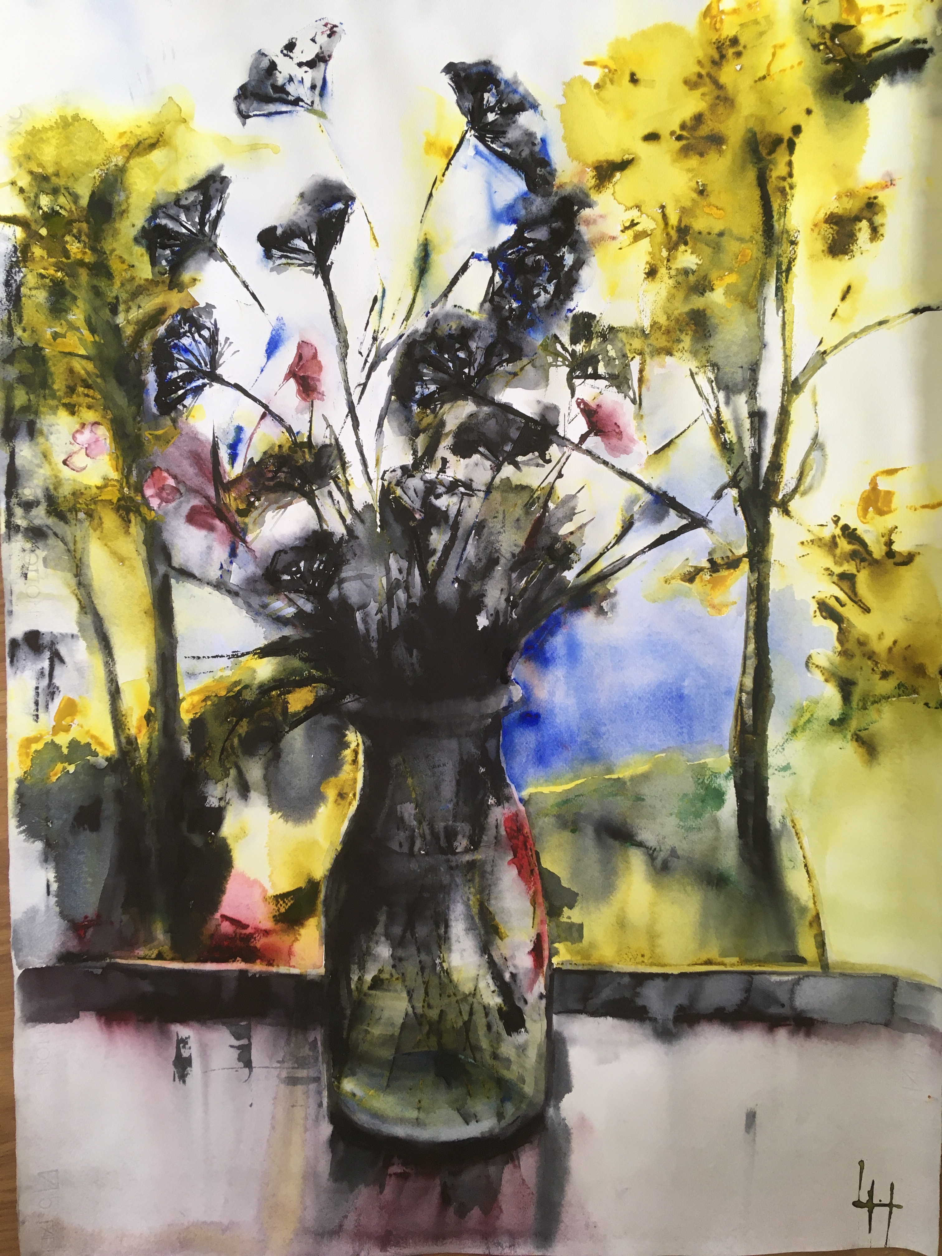 Lena Hoel - Siluett, akvarell