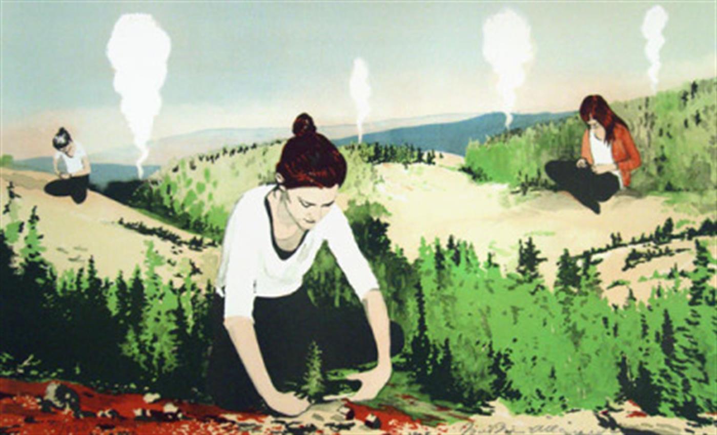 Joakim Allgulander - Explorers, colour lithograph