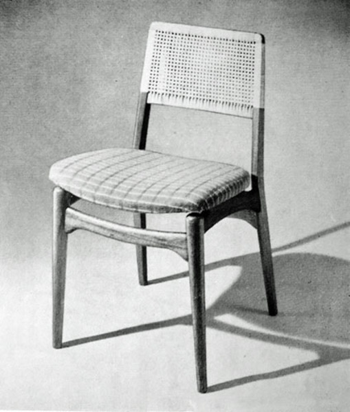Set of 6 dining chairs by E. Knudsen for Jeppesen & Lykkegaard, 1956