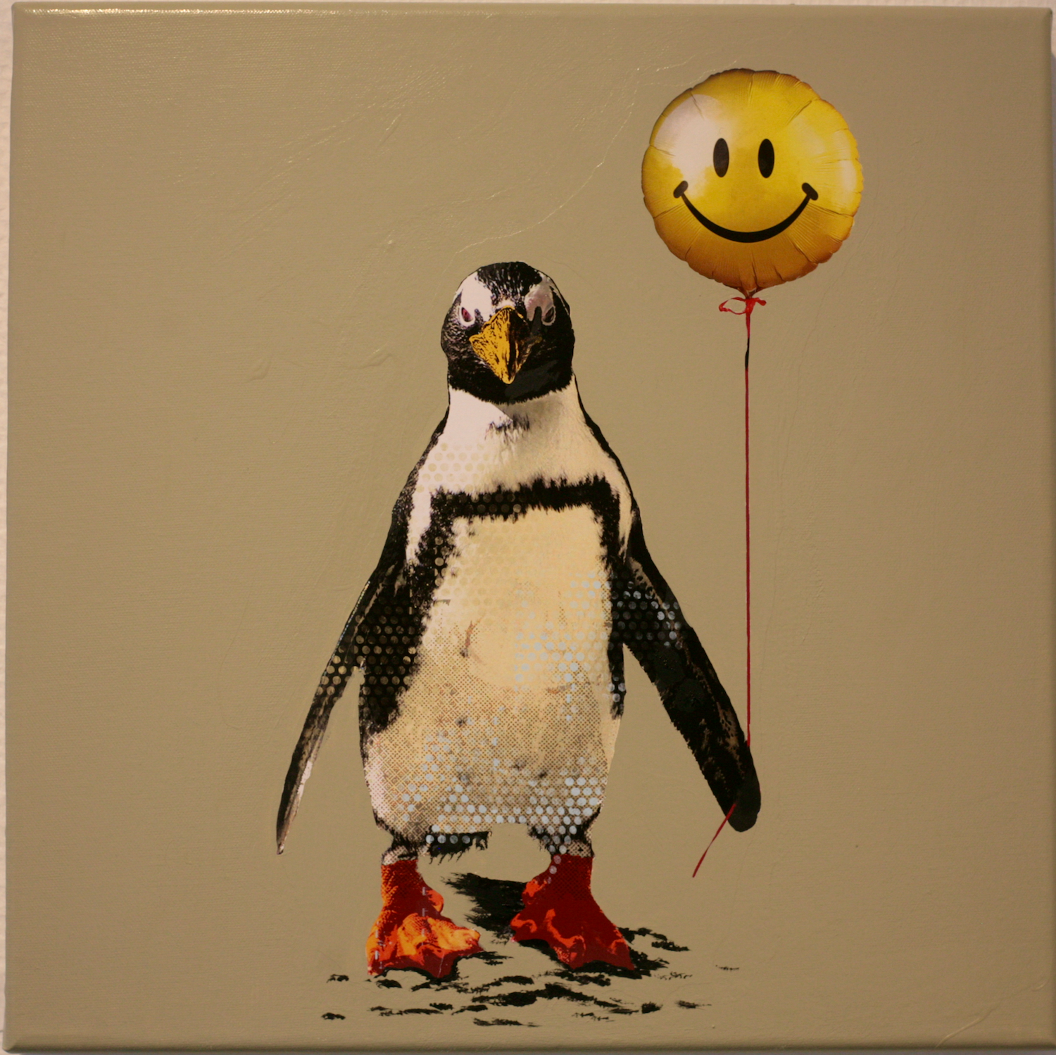Robert Hilmersson - Don´t worry be happy, oil painting on canvas