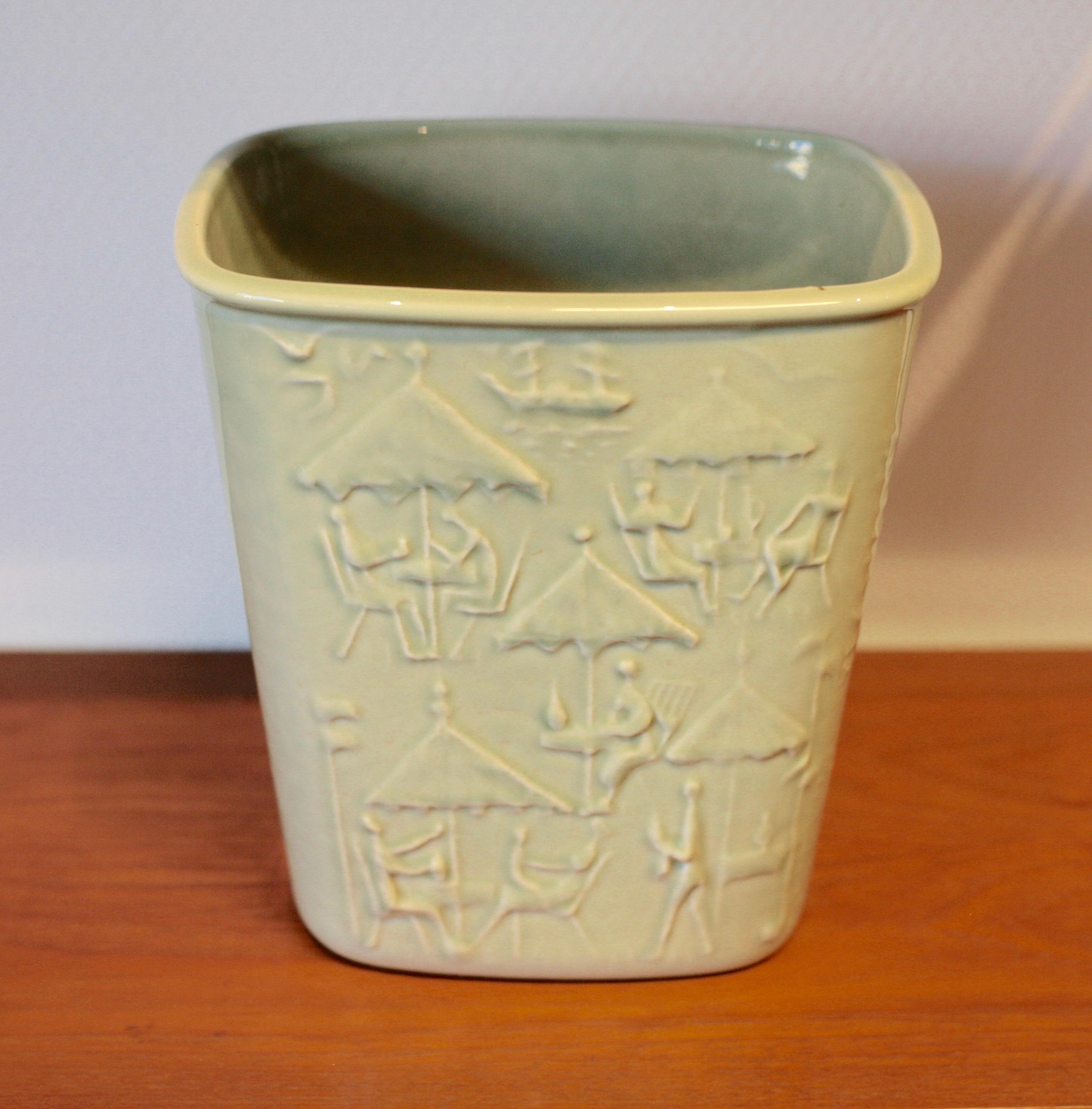 Porcelain wine cooler by Carl-Harry Stålhane for Orrefors
