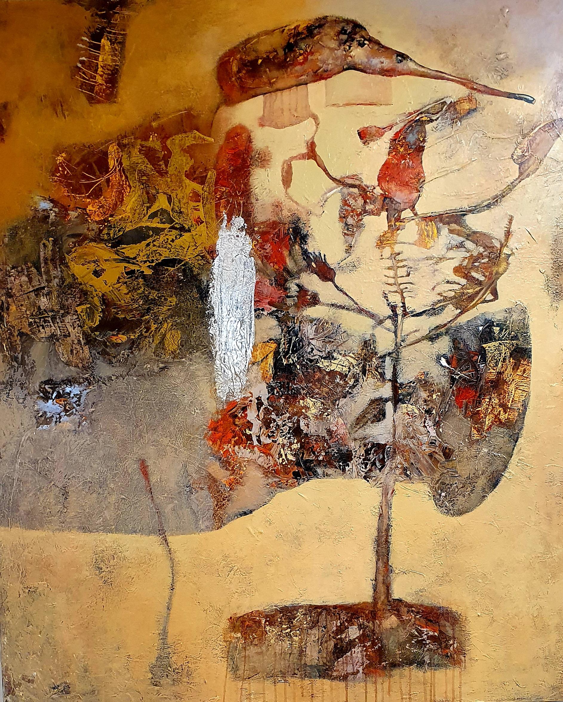 Oleg Bondarenko - Bird tree, oil painting