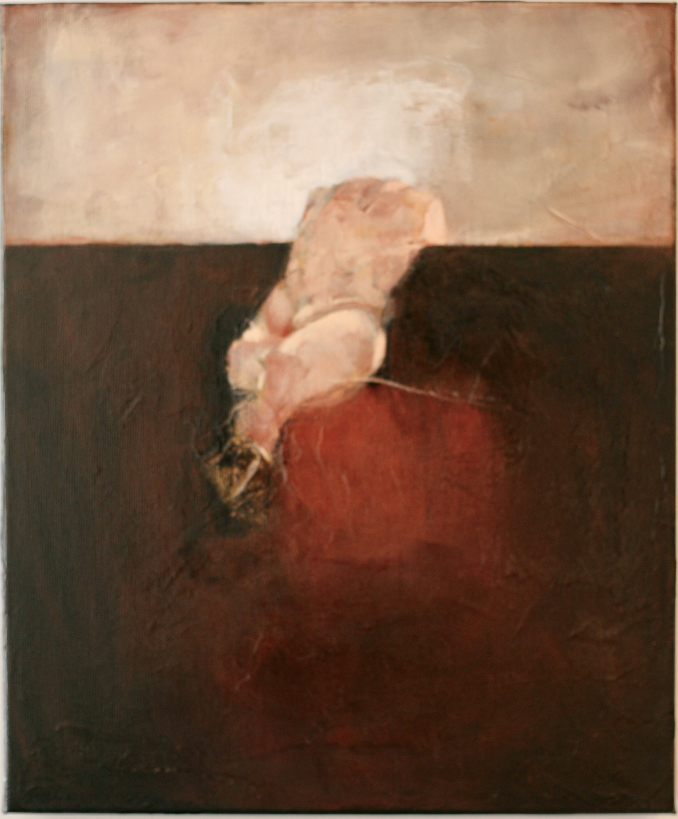 Oleg Bondarenko - Climbing the wall, oil painting