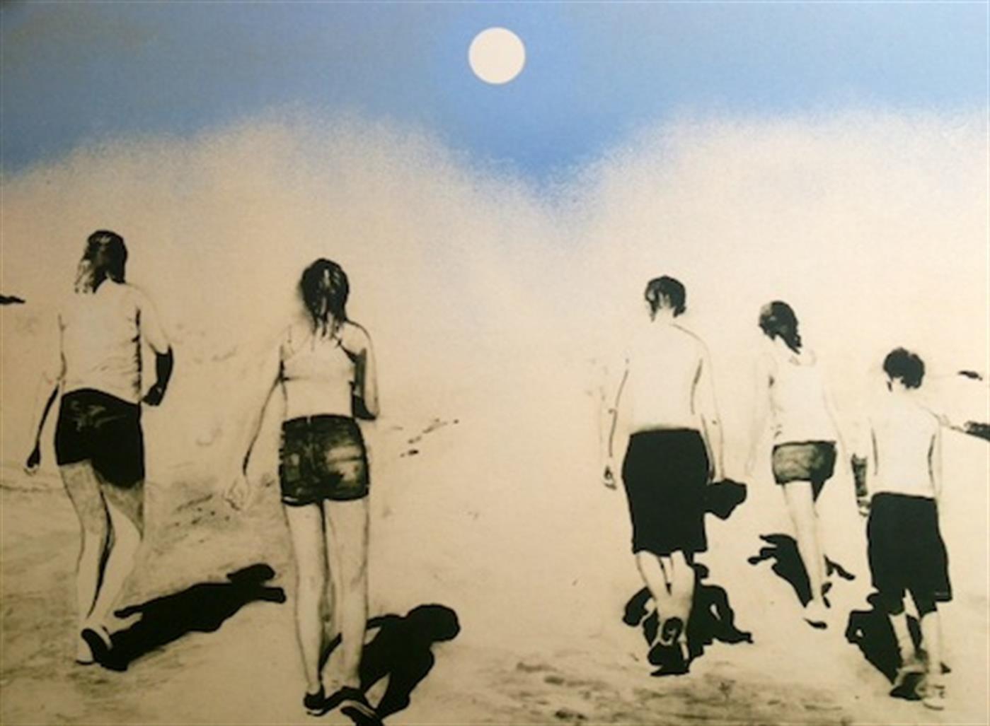 Joakim Allgulander - Moonwalkers, colour lithograph