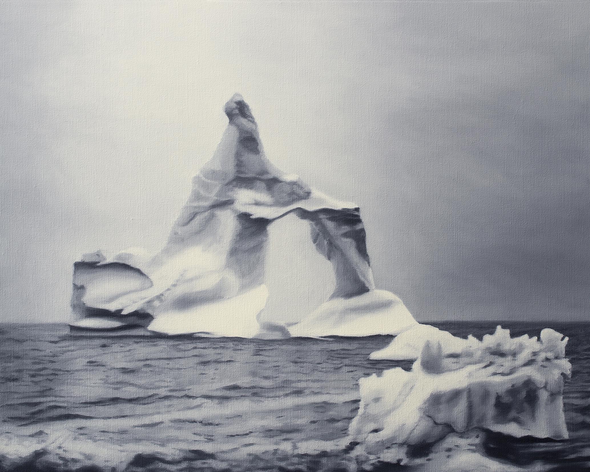 Torbjörn Limé - Ice berg (Isberg), oil on canvas