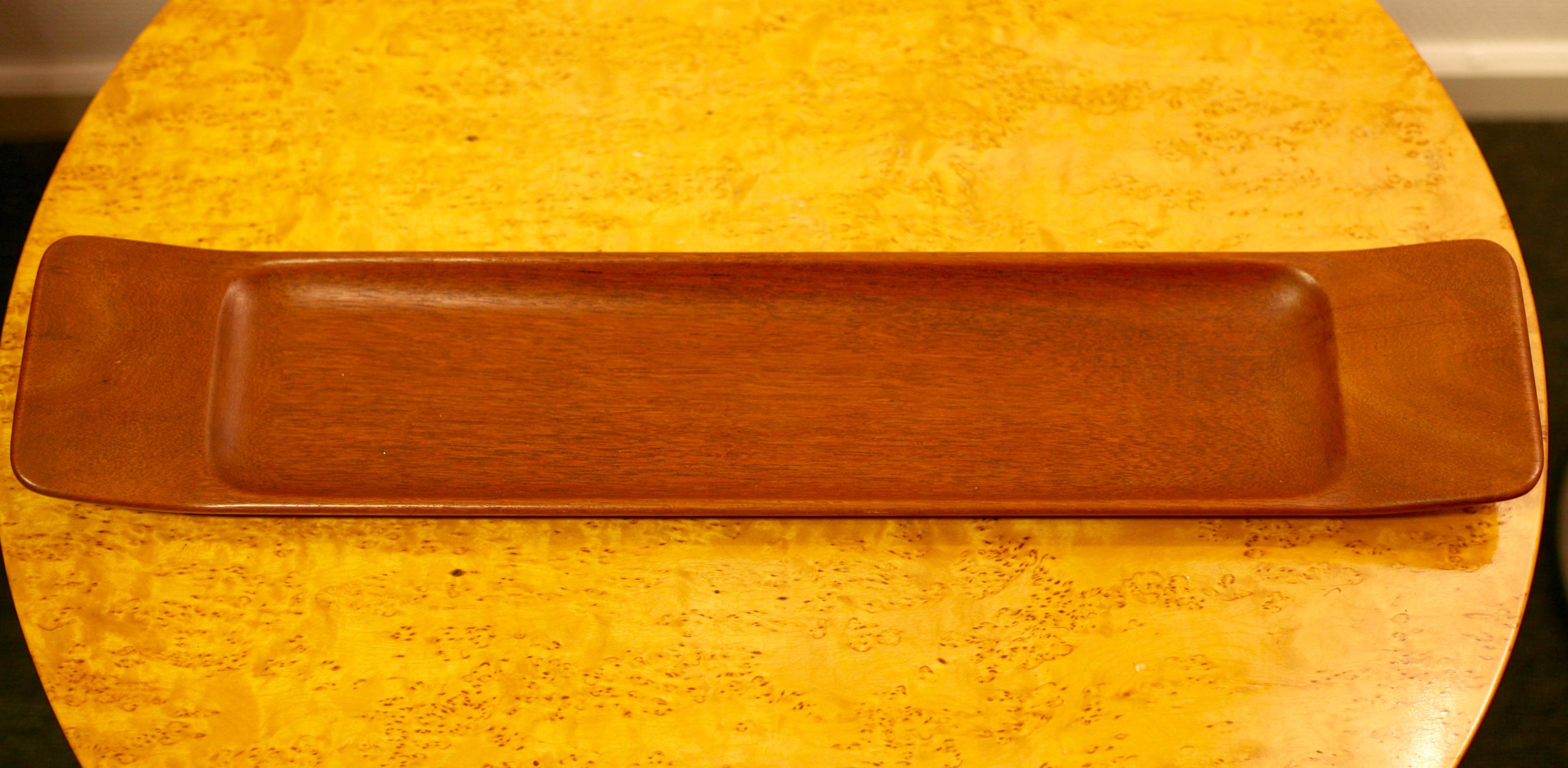 Carved teak tray by Johnny Mattsson