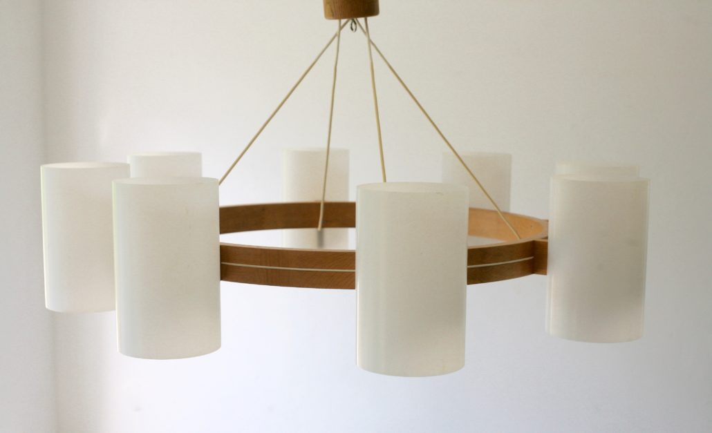 Large ceiling lamp by Uno & Östen Kristiansson, Sweden