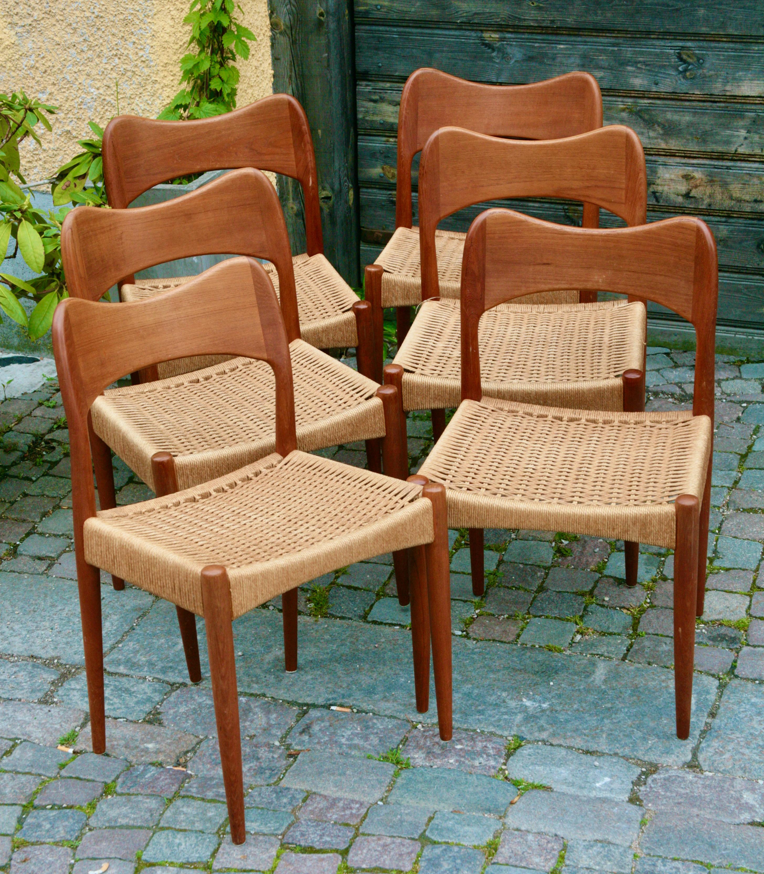 Arne Hovmand Olsen - Set of 6 dining chairs