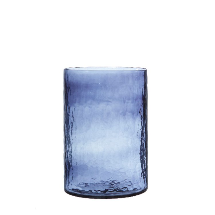 Diti glasvas cylinde mörk blå 11x22cm