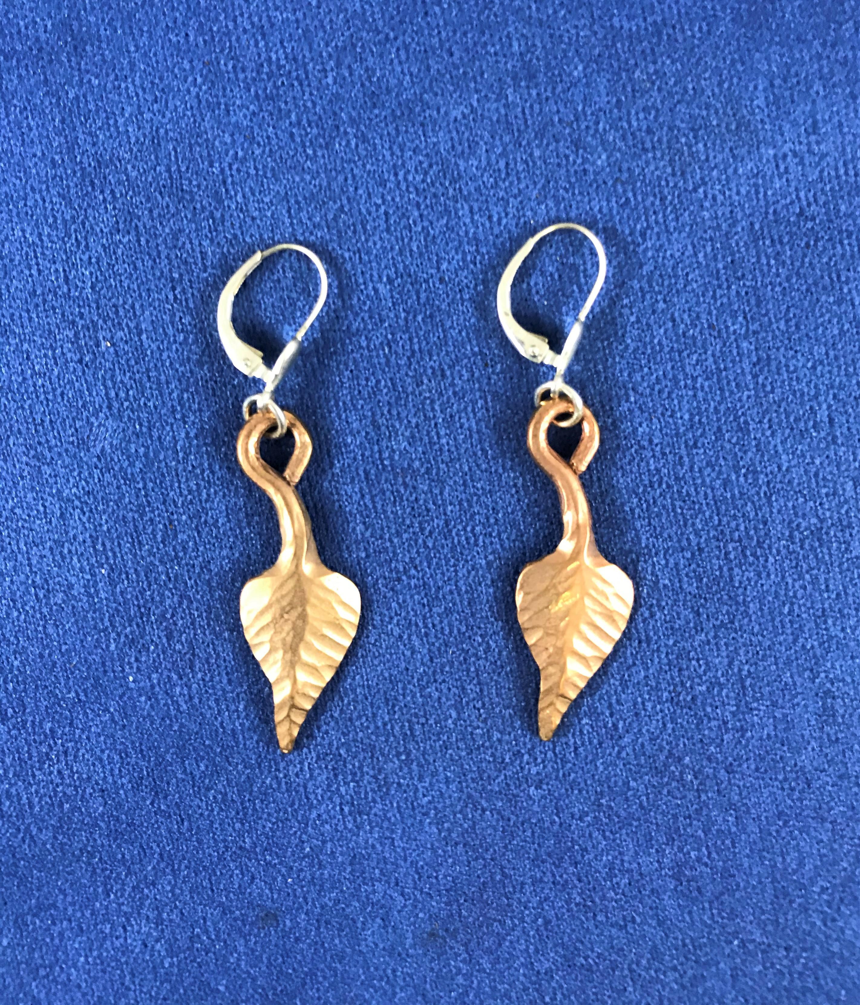 Bronzeblatt Ohrringe