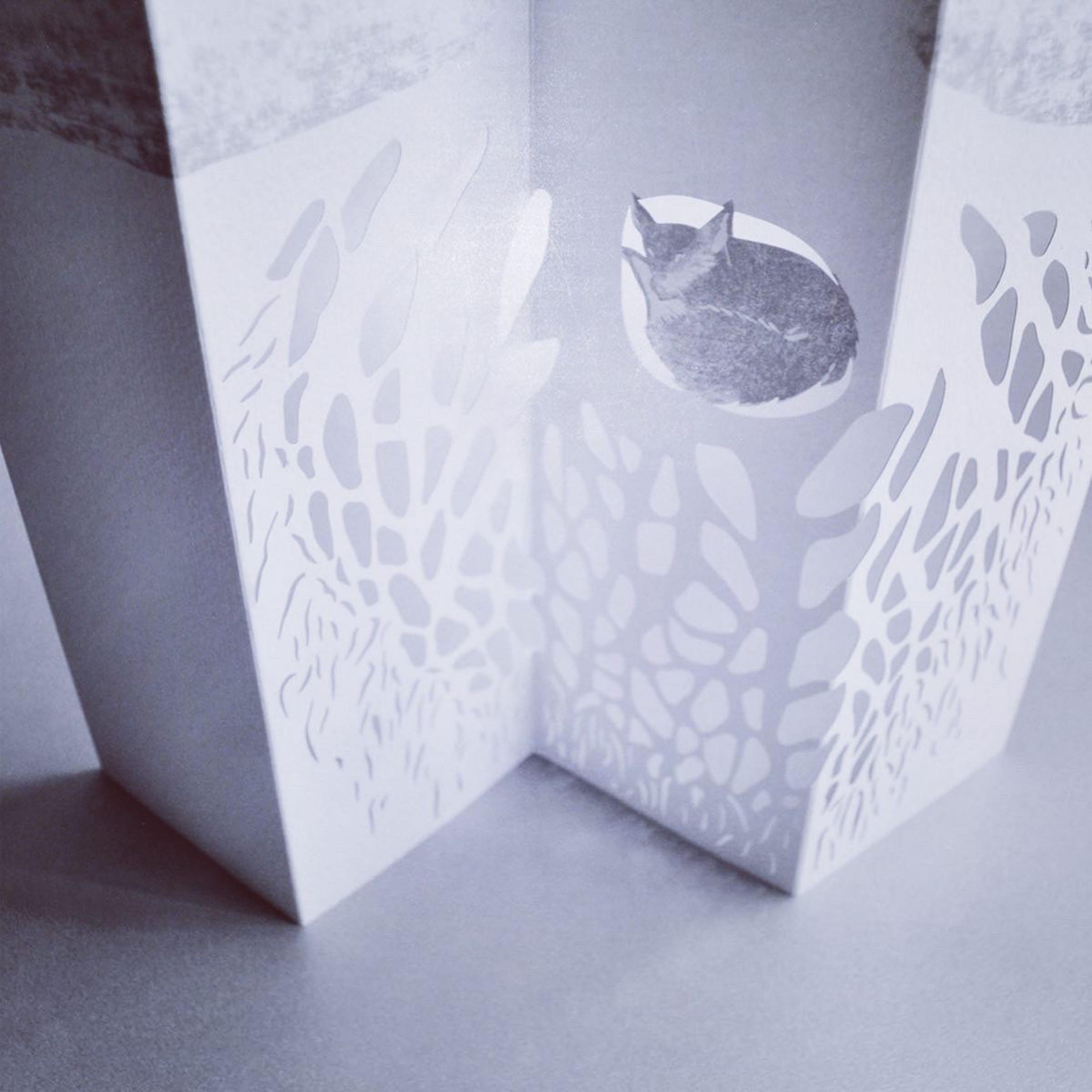 Paper Art 3D Kort – Räv