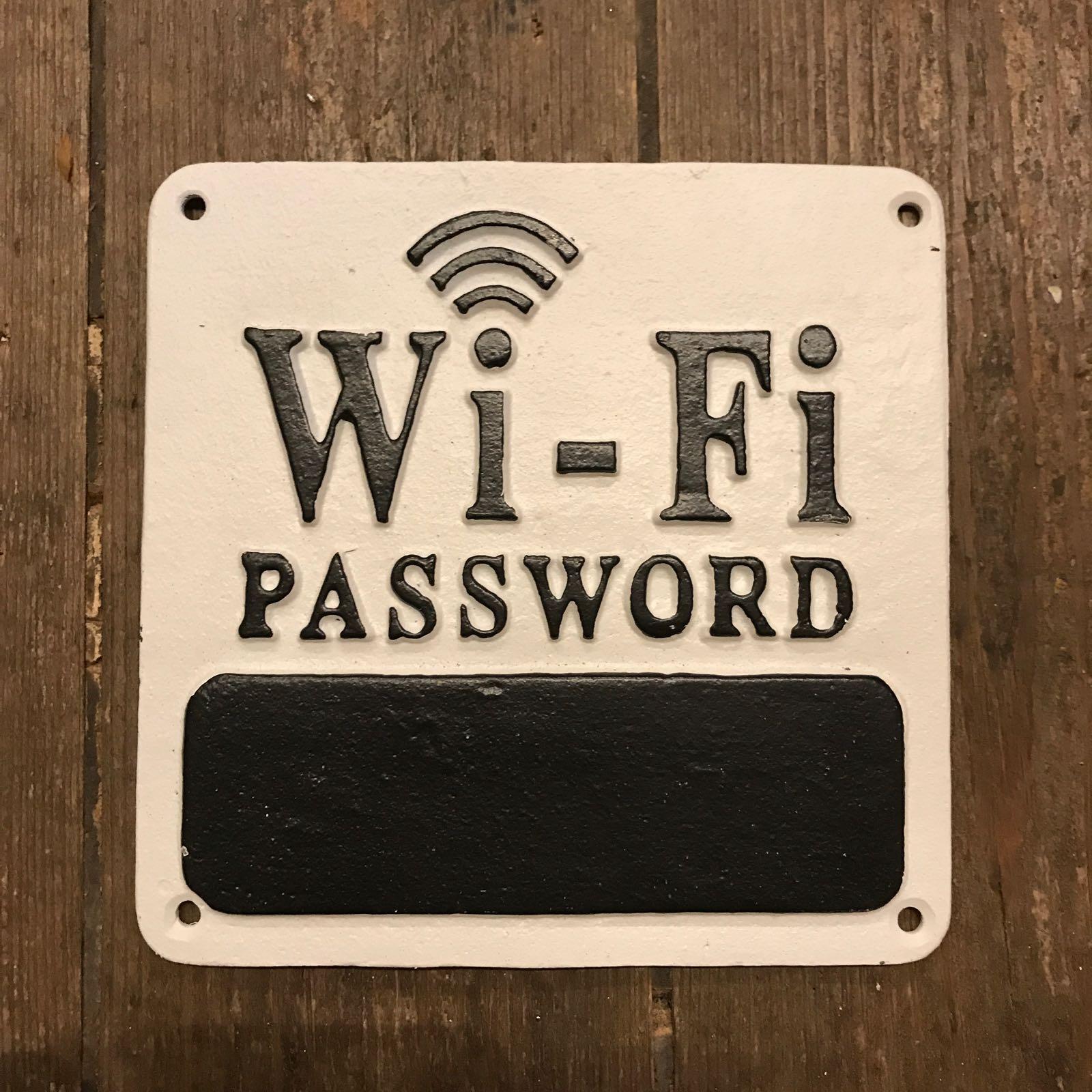 Skilt «Wi-Fi password»