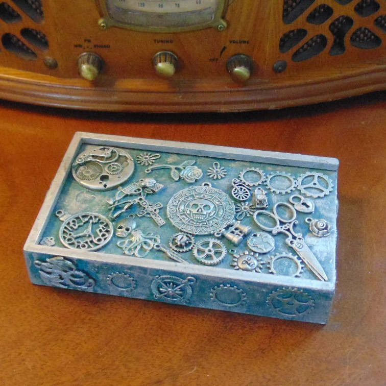 Playing Card Storage Box with Cards & Dice
