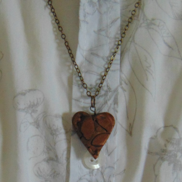 Necklace - Copper Heart Pendant