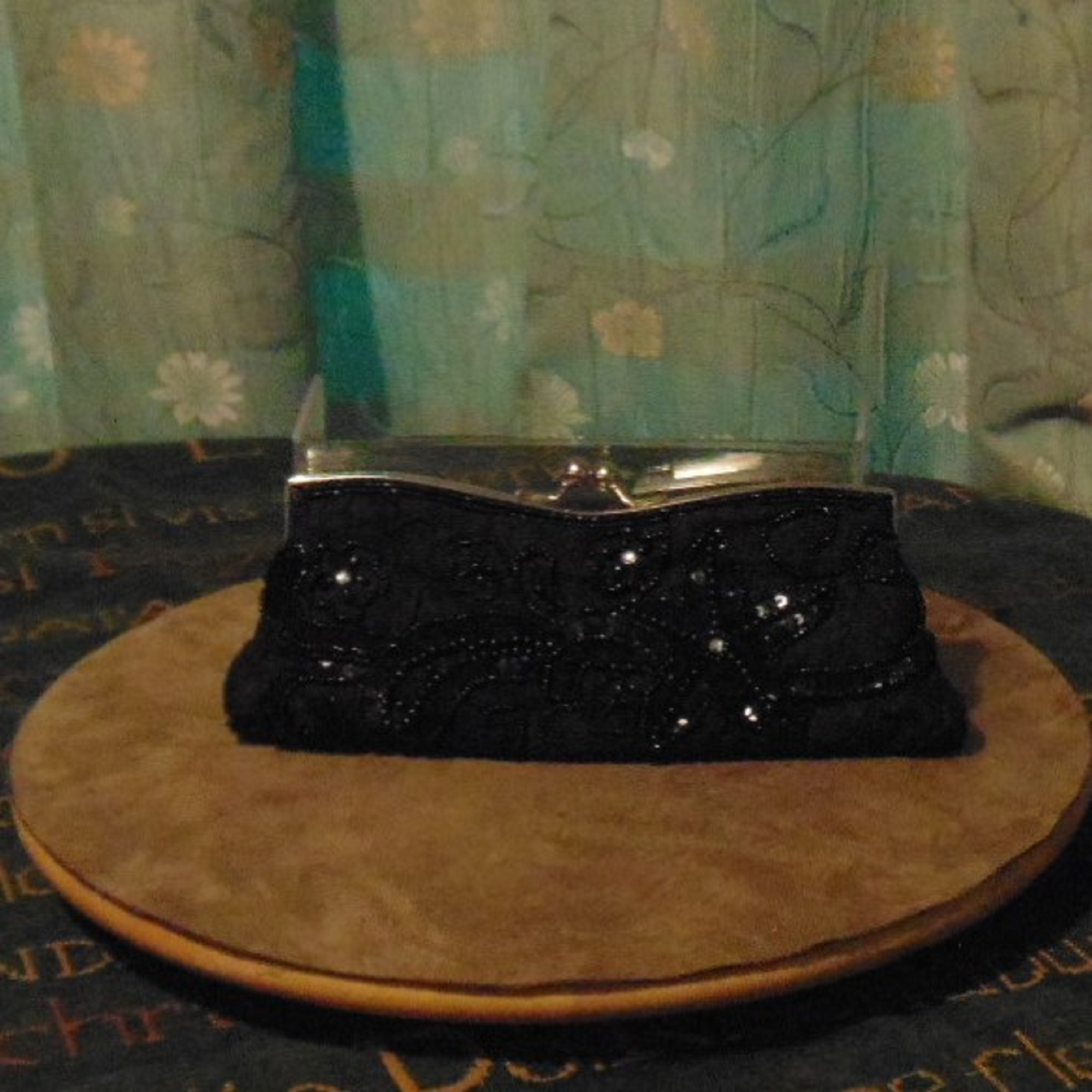 Bag - Clutch Bag with Cameo and other Embellishments