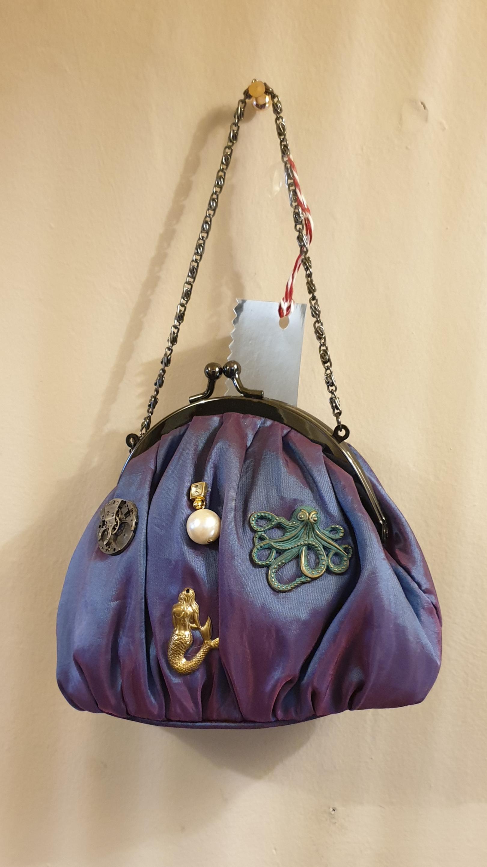 Wrist Bag With Undersea Theme.
