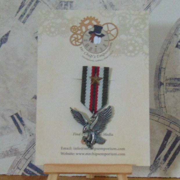 Medal #2 - Eagle with green/white/red ribbon