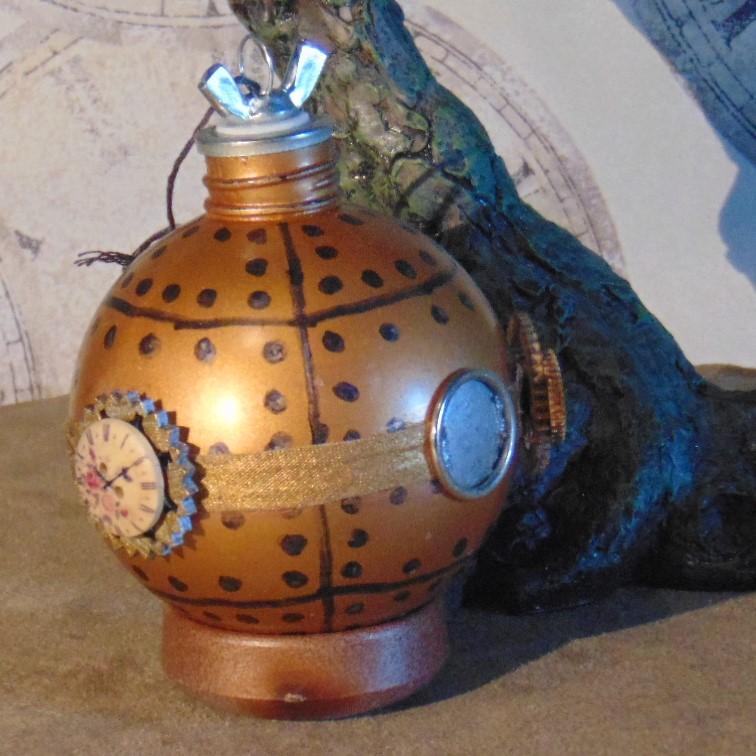 Christmas Bauble - Bathysphere Design, Copper Coloured