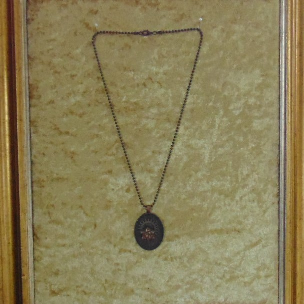 Necklace - Coppered Pendant with Cog & Star in the Centre