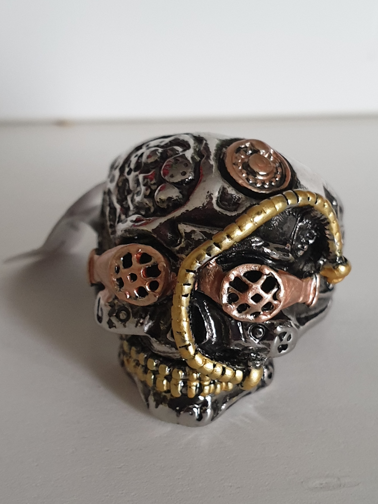 Ring - Steampunk Skull Design