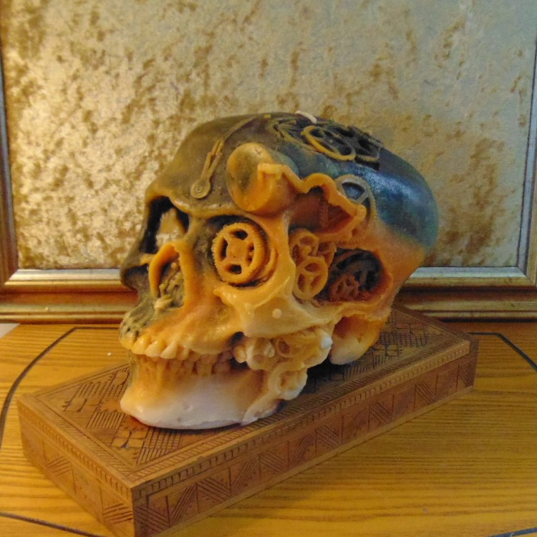 Candle - Steampunk Skull Design #7