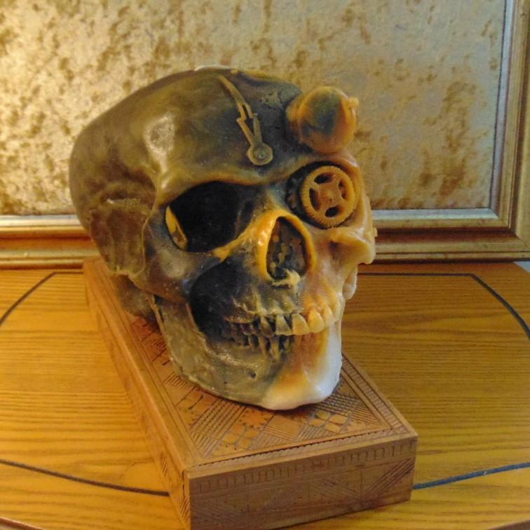 Candle - Steampunk Skull Design #7
