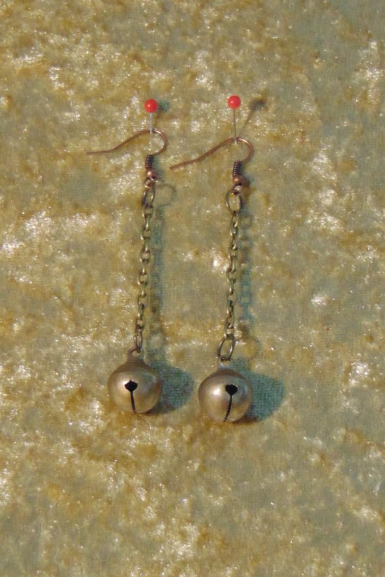 Earrings - Brass Bells