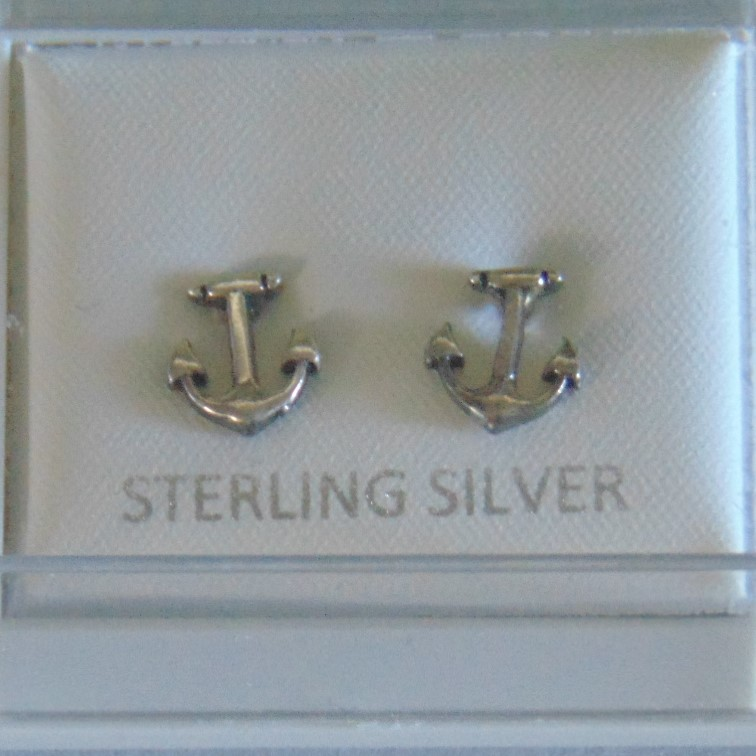 Stud Earrings - Sterling Silver Anchors