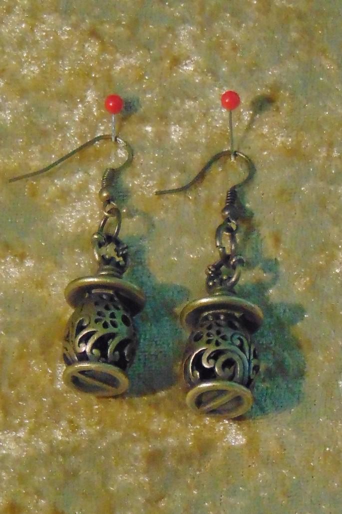 Earrings, Brass Lanterns