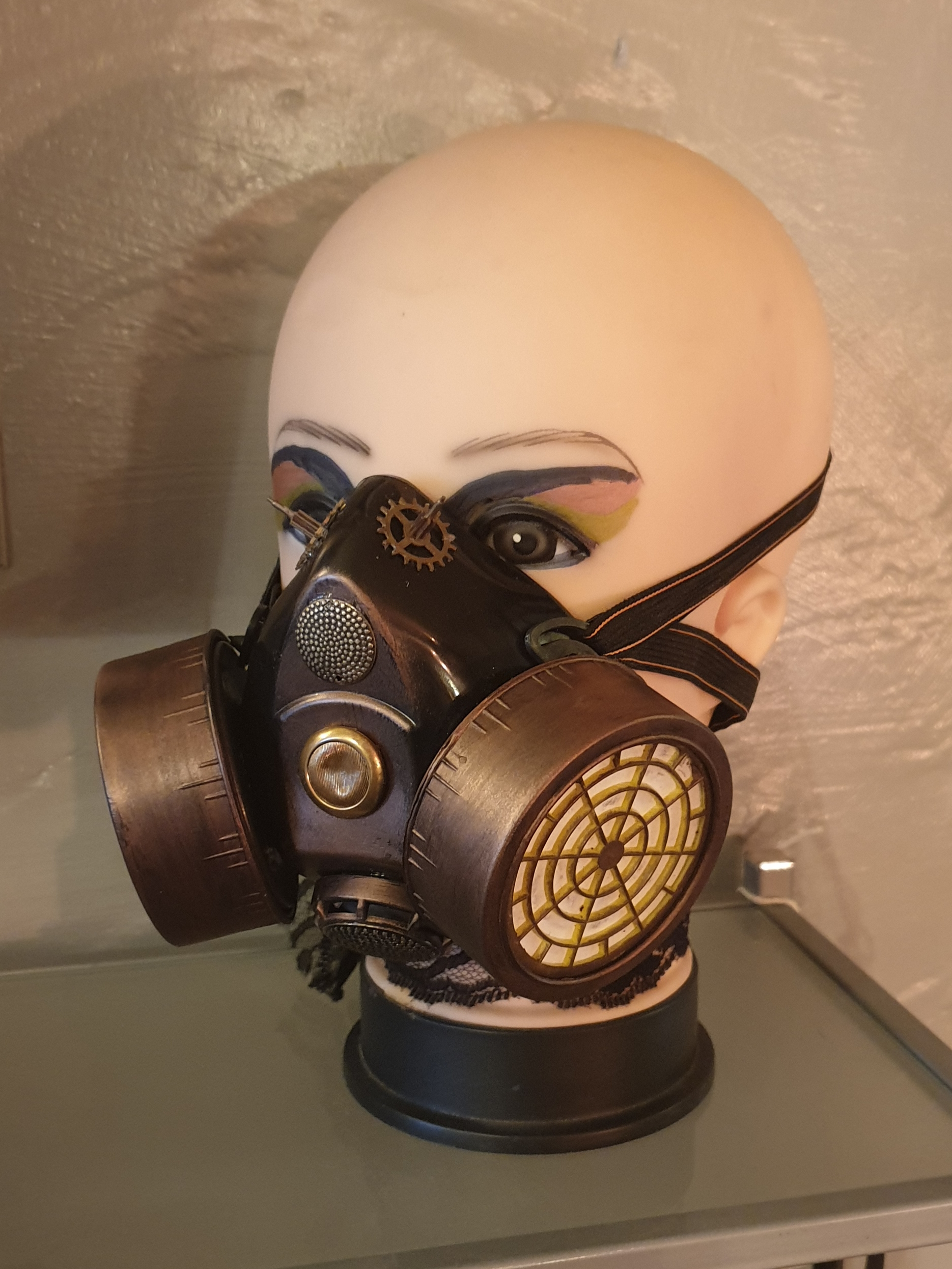 Face Mask, twin filter, Steampunk style