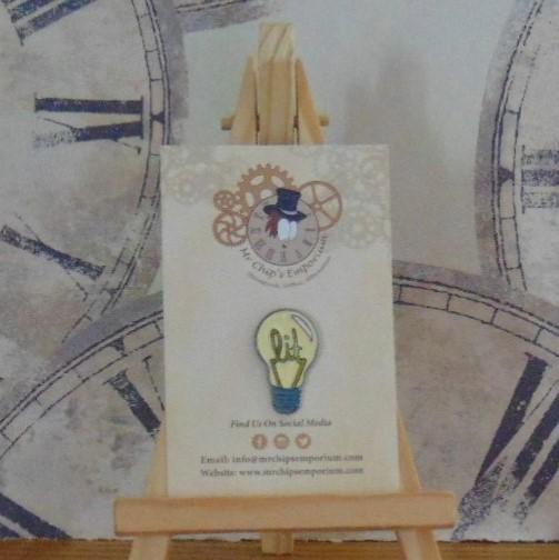 Pin Badge - Light Bulb Lit