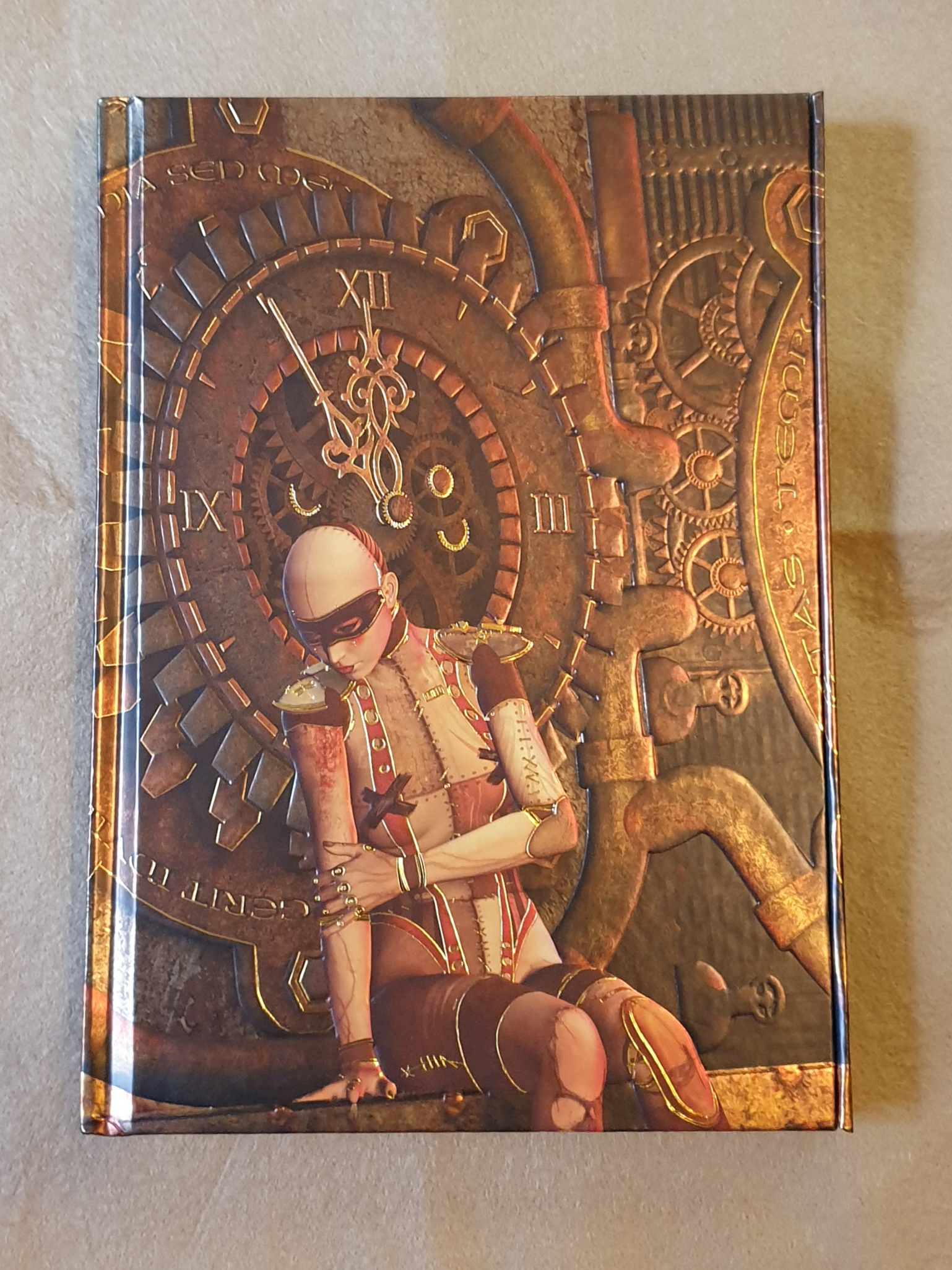 Notebook - Steampunk Mannequin, foiled journal.
