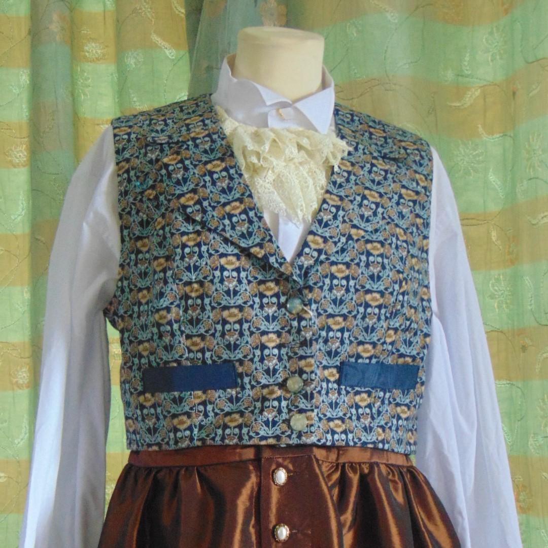 Waistcoat -Ladies or Child's Handmade Waistcoat William Morris Design #1