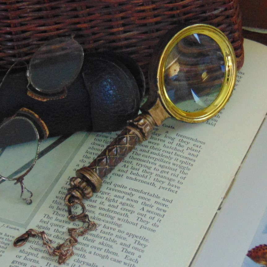 Magnifying Glass - Small Magnifying Glass with Hand Painted Finish