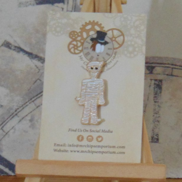 Pin Badge - Cartoon Egyptian Mummy