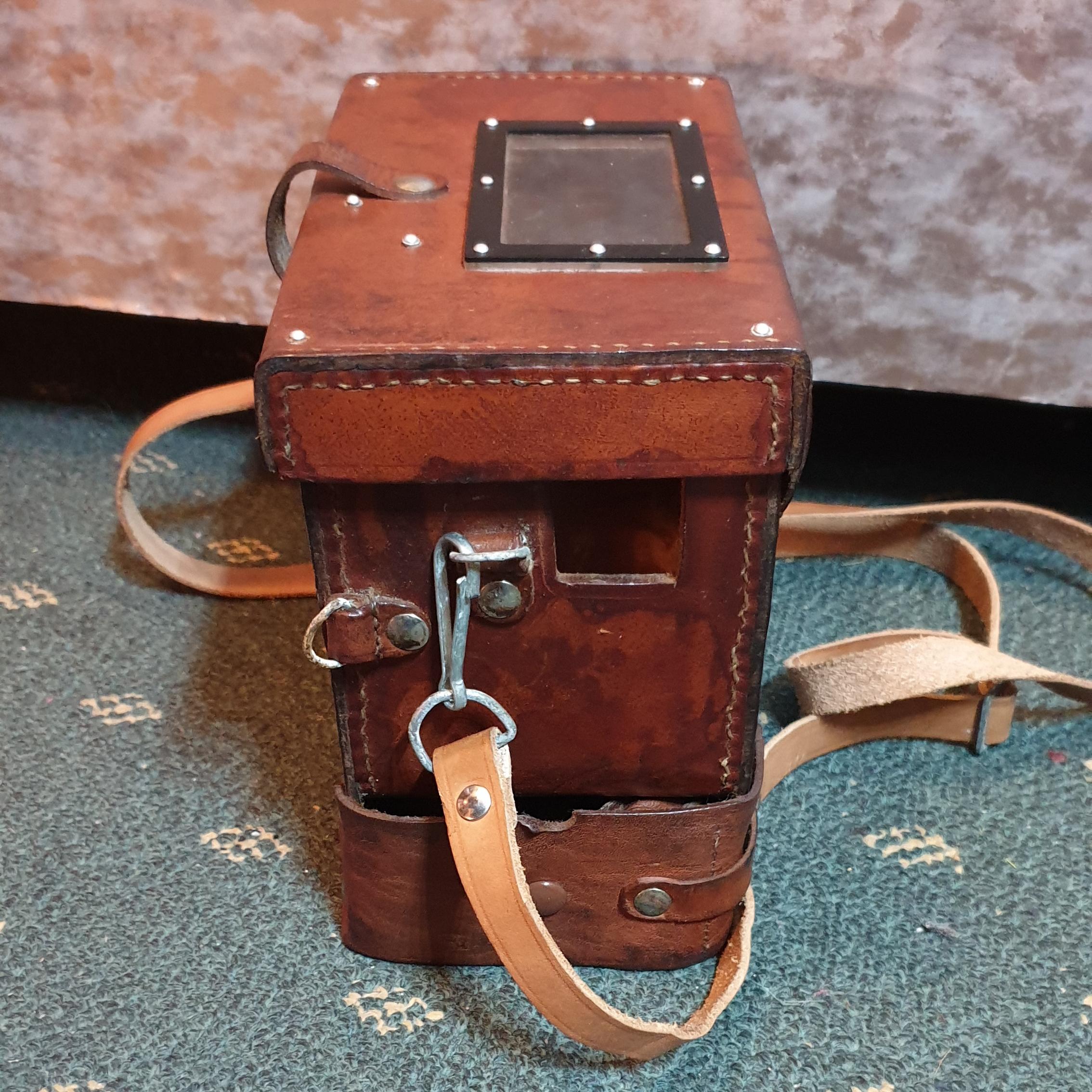 Vintage Leather Box Style Case
