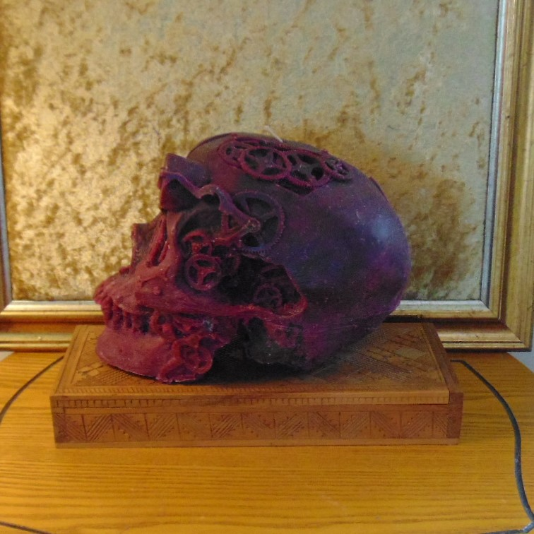 Candle - Steampunk Skull Design #5
