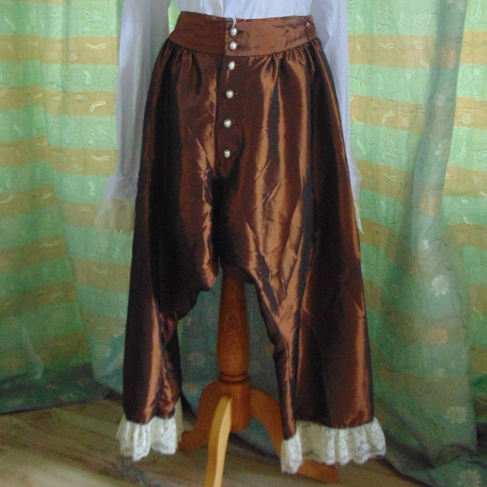 Pantaloons - Bronze Silk Material size 12 to 16