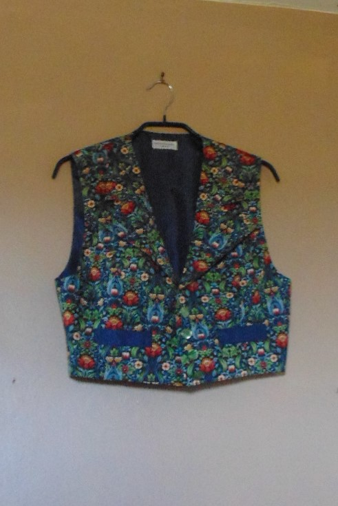 Ladies Short Waistcoat Handmade by Isis - size 16