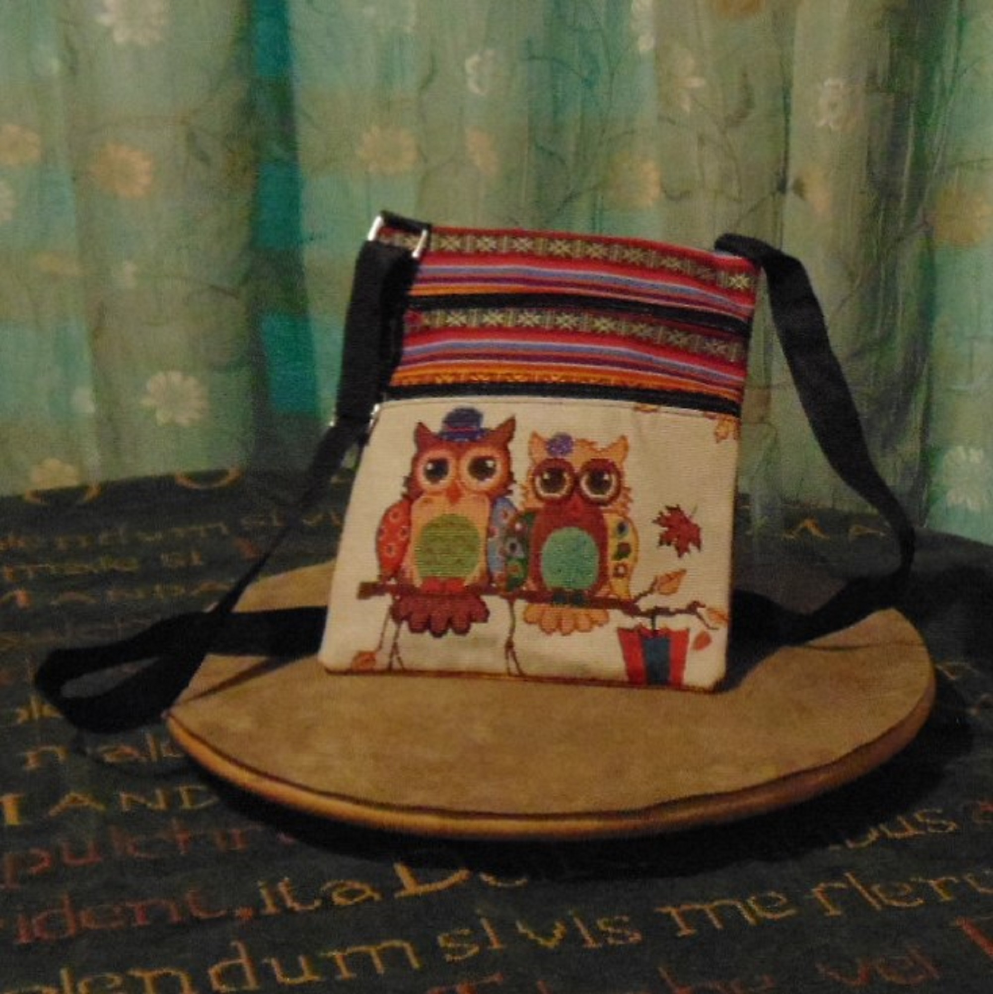 Bag - Colourful Shoulder Bag with Owl Design