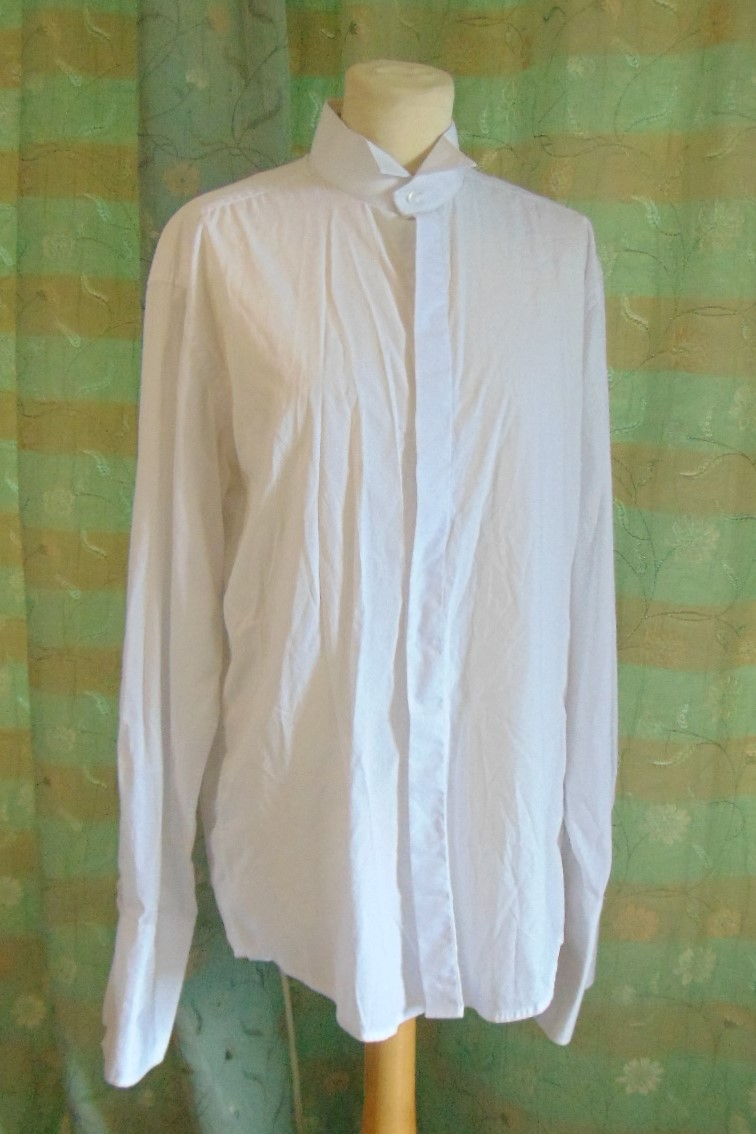 Men's Shirt - Plain White with Wing Collar