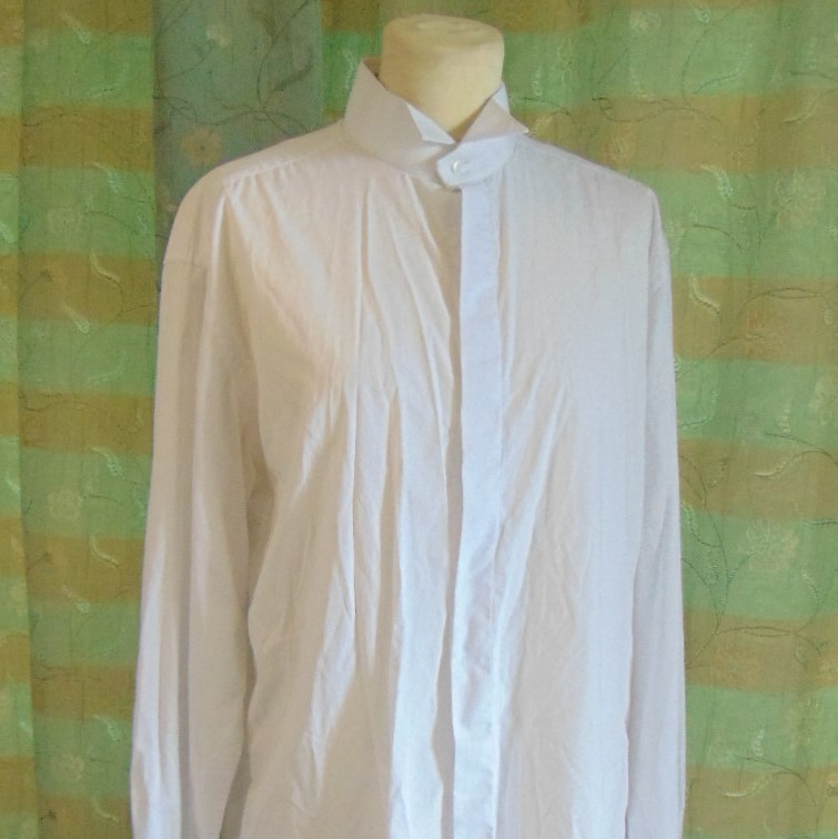 Men's Shirt - Plain White with Wing Collar