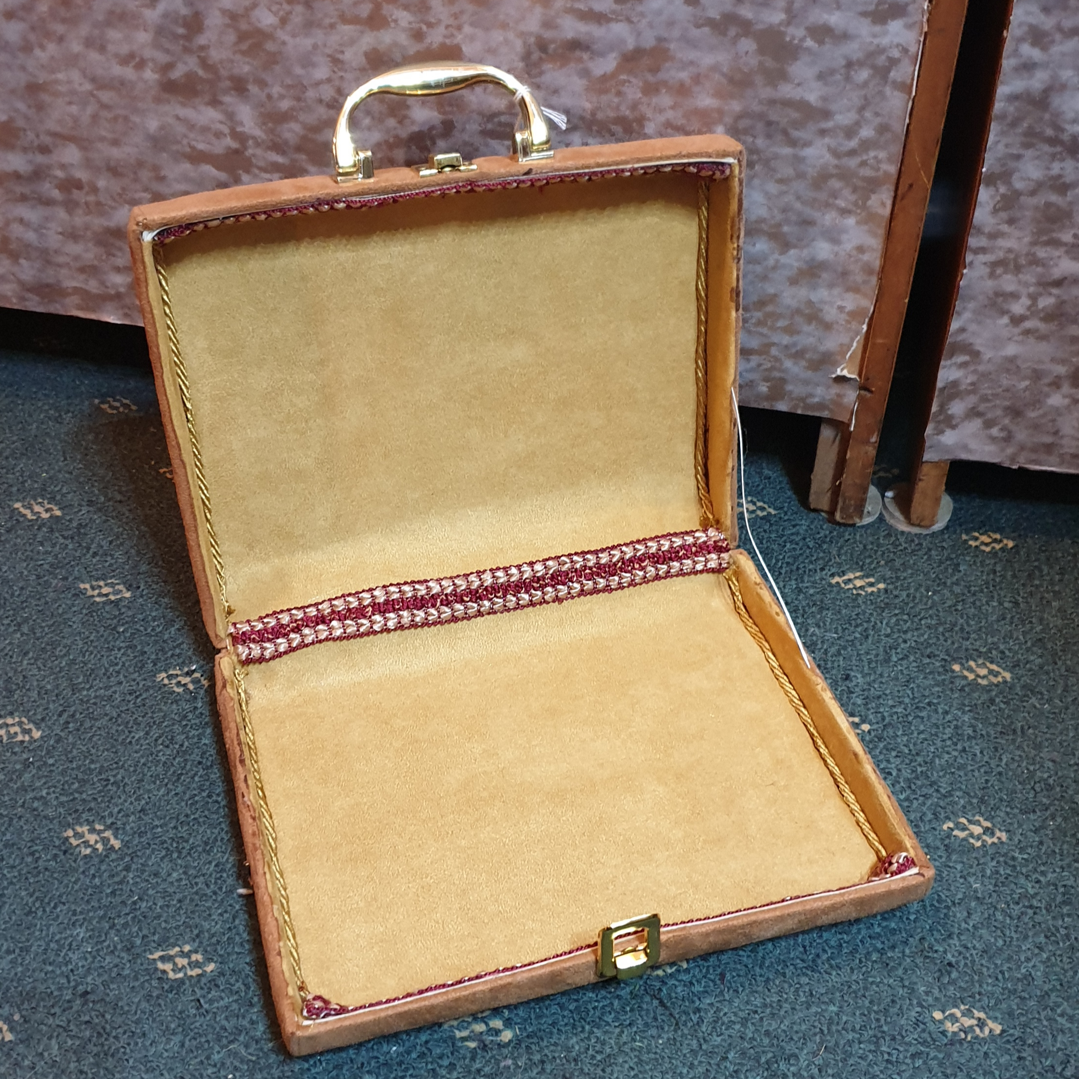 Carry case, suedette material