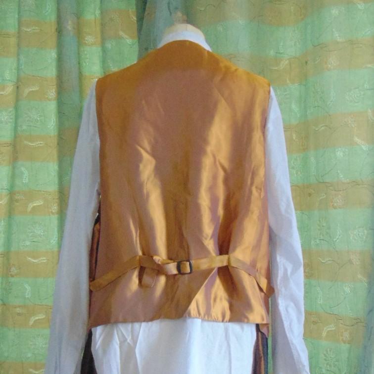 Waistcoat - Men's Tan Suede Waistcoat Size L