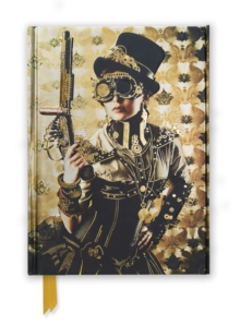 Notebook - Steampunk Lady, Foiled Cover Journal.